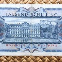 Austria 1000 shillings 1966 reverso
