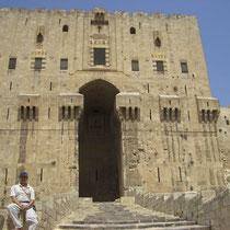 entrada Ciudadela de Aleppo, segunda torre