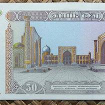 Uzbekistan 50 som 1994 reverso