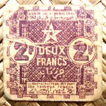Empire Cherifien 2 francos 1944 anverso