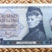 Austria 1000 shillings 1966 anverso