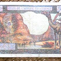 Africa Ecuatorial 500 francos 1963 reverso (140x90mm)