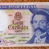 Portugal 100 escudos 1965 anverso