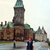 desde la colina del Parlamento de Ottawa -Canadá