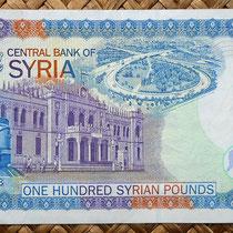 Siria 100 libras 1998 reverso