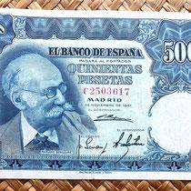 España 500 pesetas 1951 anverso
