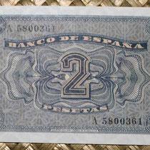España 2 pesetas 1937 pk.104 reverso