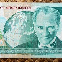 Turquía 20 liras 2005 (162x76mm) anverso