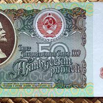 Rusia 50 rublos 1991 anverso