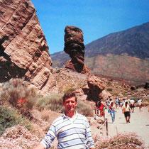 desde el Roque Cinchado en las faldas del Teide -Tenerife