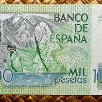 España 1000 pesetas 1979 reverso