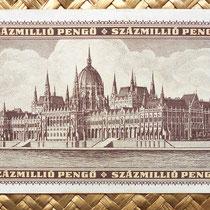 Hungria 100000000 pengos 1946 reverso