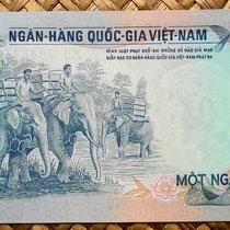 Vietnam del Sur 1000 dong 1972  reverso