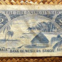 Western Samoa 2 tala 1967 (144x74mm) reverso