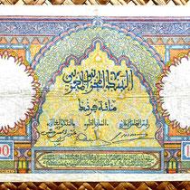 Marruecos 100 francos 1941 (174x100mm) reverso