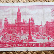 Escocia Clydesdale Bank 20 libras 1964 reverso