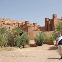 desde el ksar de Ait Ben Haddou en la provincia de Ouarzazate (Marruecos)