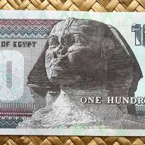 Egipto 100 pounds 2012 reverso