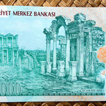 Turquía 20000000 liras 2001 (162x76mm) reverso