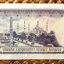 Turquía 500 liras 1953 reverso