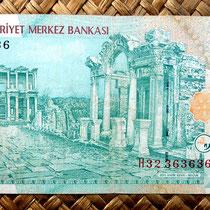 Turquía 20 liras 2005 (162x76mm) reverso