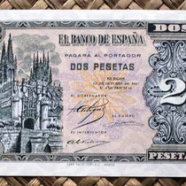 España 2 pesetas 1937 (96x66mm) pk.104 anverso