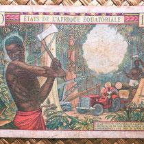 Africa Ecuatorial 1000 francos 1963 reverso (158x100mm)