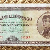Hungria 100000000 pengos 1946 anverso