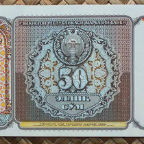 Uzbekistan 50 som 1994 anverso
