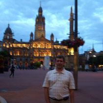 desde George Square con Ayuntamiento de Glasgow
