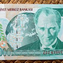 Turquía 20000000 liras 2001 (162x76mm) anverso
