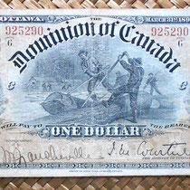 Canadá 1 dólar 1898 -Dominion of Canada anverso