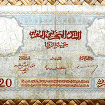 Marruecos colonial 20 francos 1945 reverso
