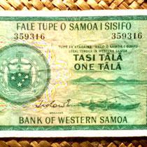Western Samoa 1 tala 1967 (134x74mm) anverso