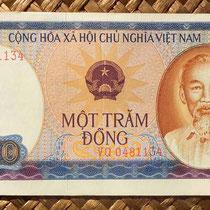Anverson del billete de 100 dong de Vietnam de 1981