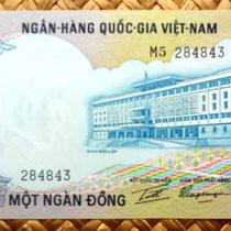Vietnam del Sur 1000 dong 1972  anverso