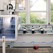 Bearbeitungszentrum, CNC Bearbeitung von Holzwerkstoffen und Kunstoffplatten, Schloßkastenfräsung, Bandfräsungen, präziser Winkelschnitt