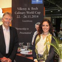 Direktor von Luxexpo, Jean-Michel Collignon und Jessika Maria Rauch, Global PR Manager Tableware, Kitchen & Hotel Villeroy & Boch
