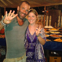 Et on retrouve des copains: Toti que j'avais rencontre a Koh Rong au Cambodge!!