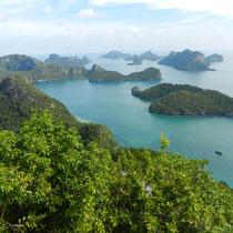 vue sur les iles depuis Koh Phaluai