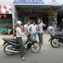 essayage de la moto par Gilberte