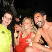 Retrouvaille avec les copains: Gaëtan, Sabrina, Josep.