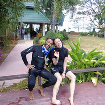Alice et son instructeur Josep!