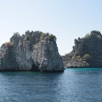 Koh Haa, qui veut dire 5 îles, un des sites de plongée.