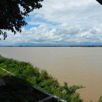 Vue de notre Guesthouse sur le Mekong