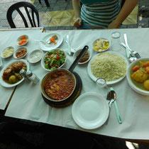 Un repas typiquement israelien pour... 3 personnes!