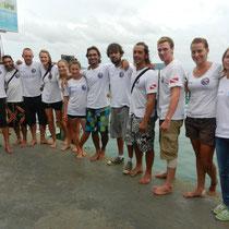 Koh Rong: la joyeuse equipe du Koh Rong dive Centre