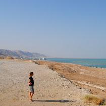 Vers le Sud de la mer morte... on pourrait rejoindre la Jordanie a pieds.