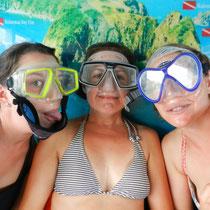 On est pretes pour la plongee!!!
