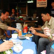 repas autour du marche
